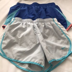 Bundle of 2 pair Nike girls shorts